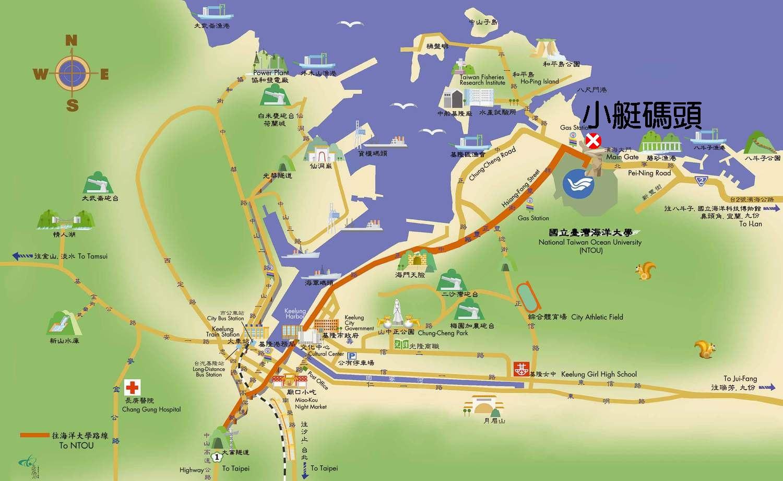 海洋大学小艇码头位置图